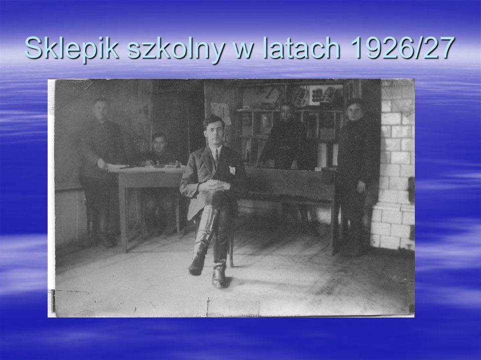 Sklepik szkolny w latach 1926/27