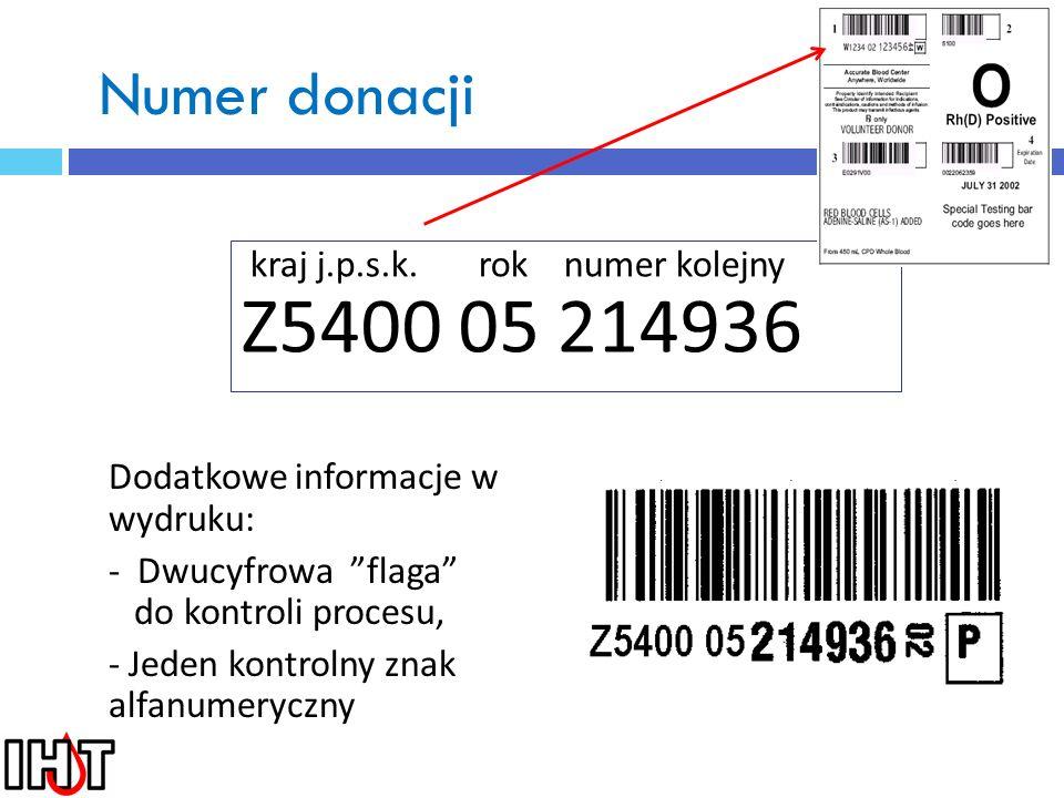 Kod składnika Kod składnika na etykiecie i dokumentach: składn. krwi. typ don. podz. E4078 0 00