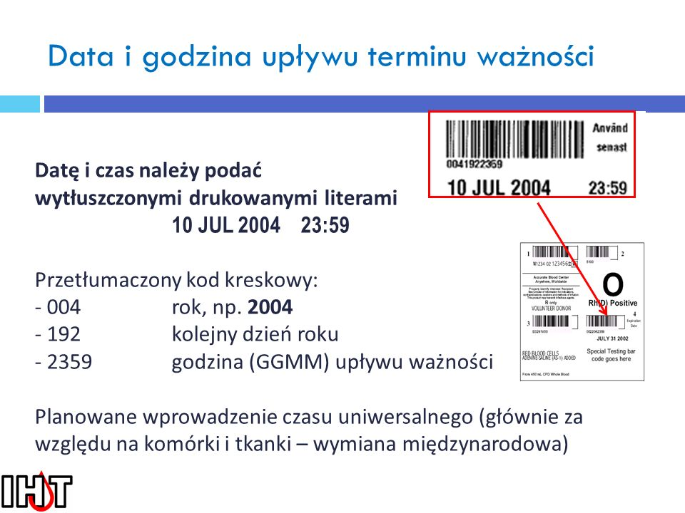 Etykieta ostateczna kod 2D planowane
