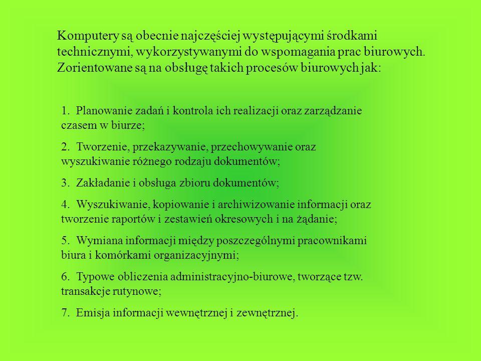 - Oprogramowaniem nazywamy ogół środków programowych dostępnych w ramach systemu komputerowego, w którym podstawowym elementem jest pojedynczy program.