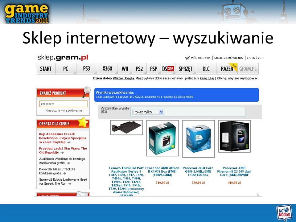 Sklep internetowy – wyszukiwanie