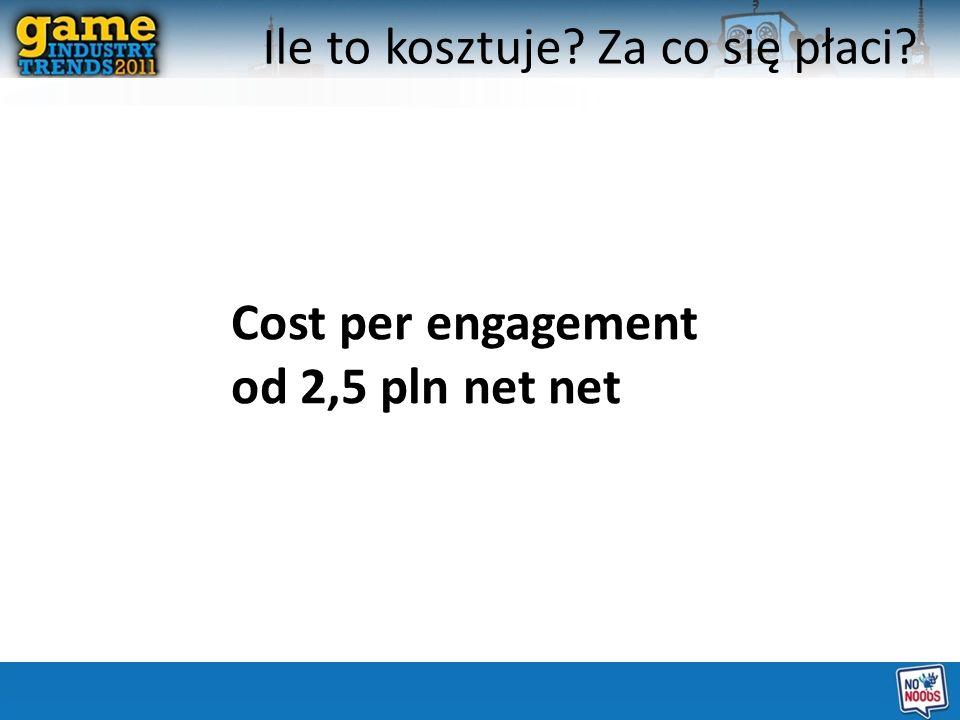 Cost per engagement od 2,5 pln net net Ile to kosztuje? Za co się płaci?
