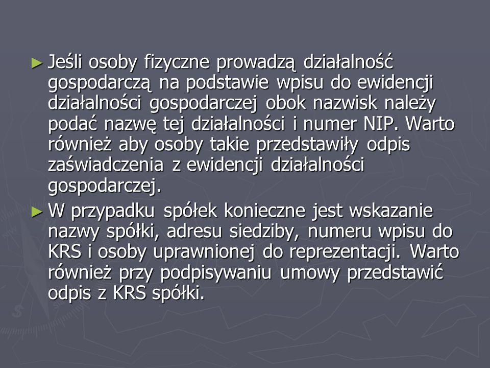 Krok 2 OPIS PRZEDMIOTU Umowa powinna również zawierać dokładny opis zamawianego dzieła.
