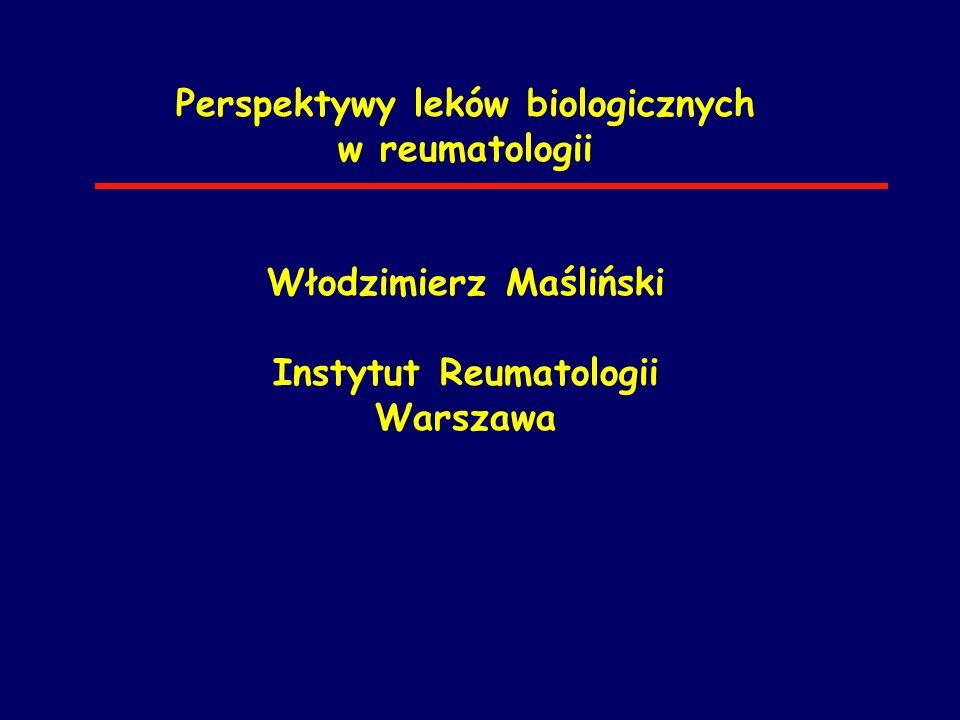 Perspektywy leków biologicznych w reumatologii Włodzimierz Maśliński Instytut Reumatologii Warszawa