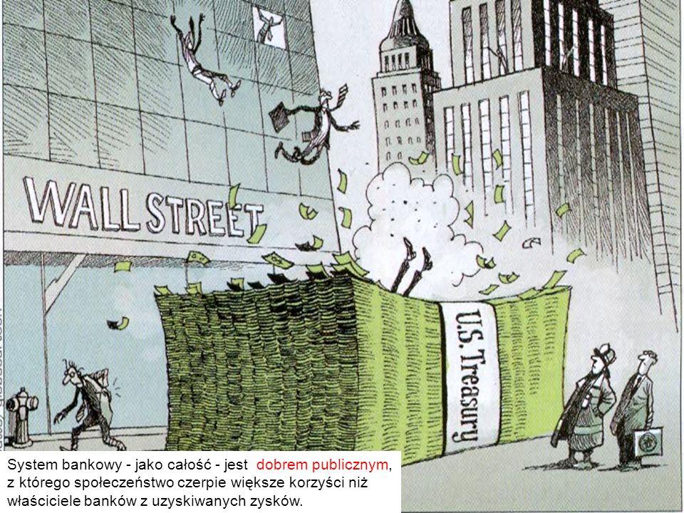 17 System bankowy - jako całość - jest dobrem publicznym, z którego społeczeństwo czerpie większe korzyści niż właściciele banków z uzyskiwanych zyskó
