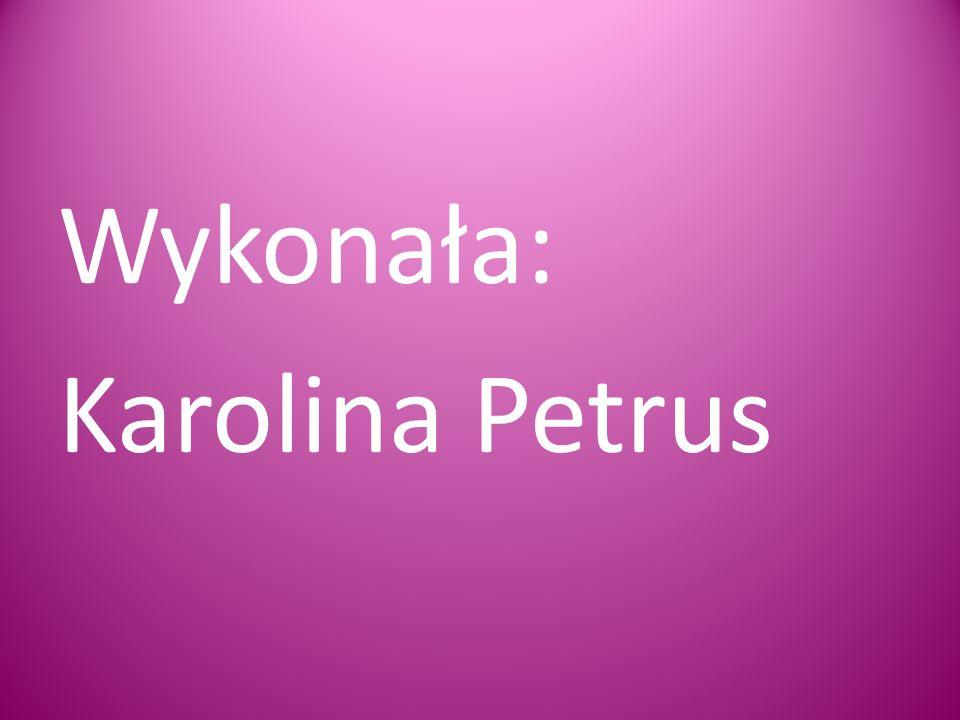 Wykonała: Karolina Petrus