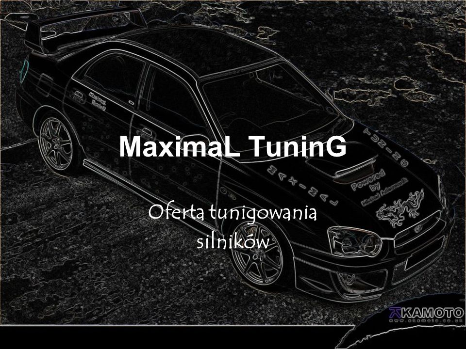 MaximaL TuninG Oferta tunigowania silników