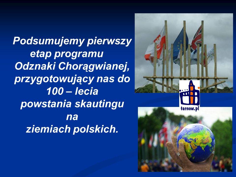 Podsumujemy pierwszy etap programu Odznaki Chorągwianej, przygotowujący nas do 100 – lecia powstania skautingu na ziemiach polskich.