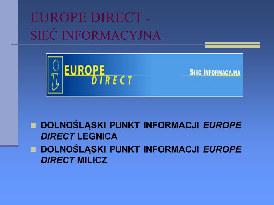 PROGRAM UKIE PROJEKT REALIZOWANY: PROJEKT REALIZOWANY: PUNKTY INFORMACJI EUROPEJSKIEJ SIEĆ EUROPE DIRECT CEL: BIEŻĄCE INFORMACJE O UE.