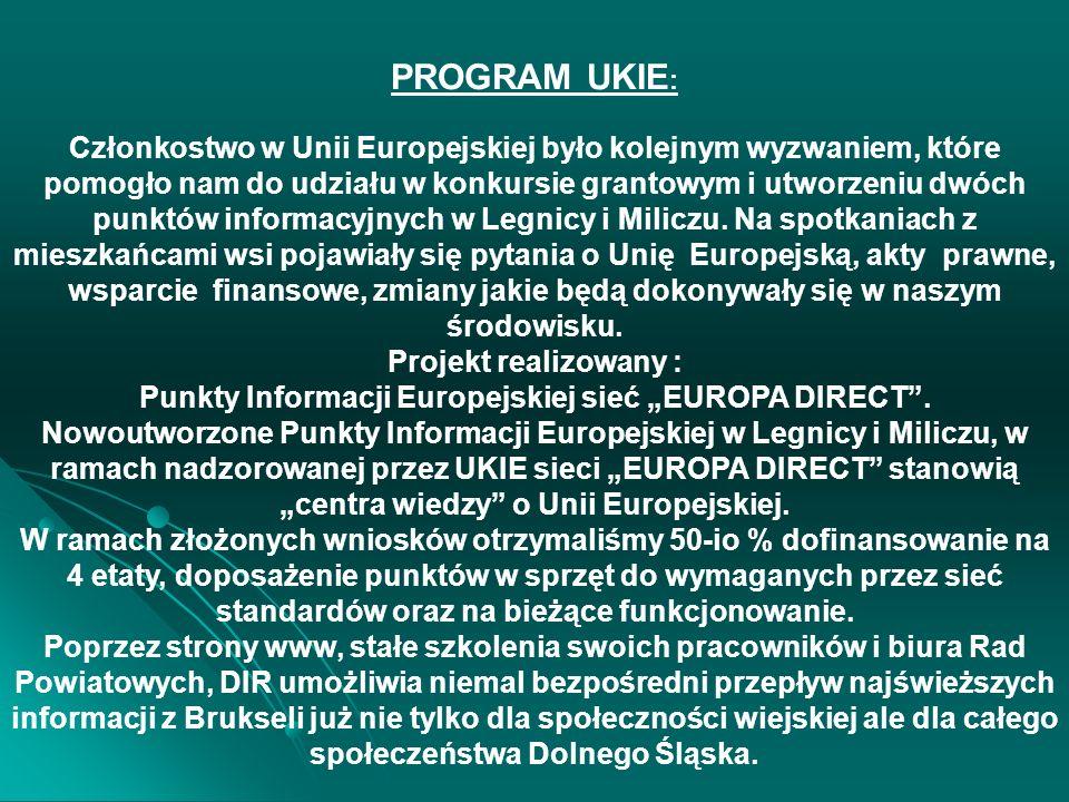 EUROPE DIRECT - SIEĆ INFORMACYJNA DOLNOŚLĄSKI PUNKT INFORMACJI EUROPE DIRECT LEGNICA DOLNOŚLĄSKI PUNKT INFORMACJI EUROPE DIRECT MILICZ