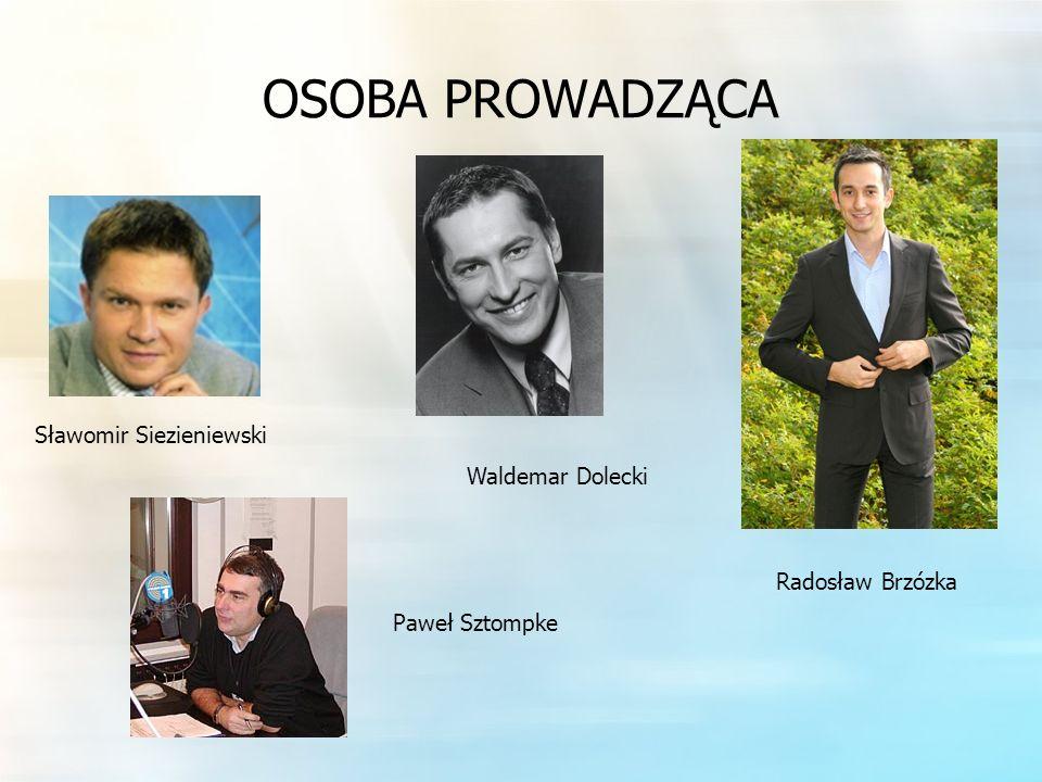 OSOBA PROWADZĄCA Sławomir Siezieniewski Waldemar Dolecki Radosław Brzózka Paweł Sztompke