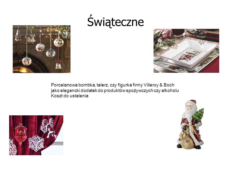 Świąteczne Porcelanowa bombka, talerz, czy figurka firmy Villeroy & Boch jako elegancki dodatek do produktów spożywczych czy alkoholu Koszt do ustalen