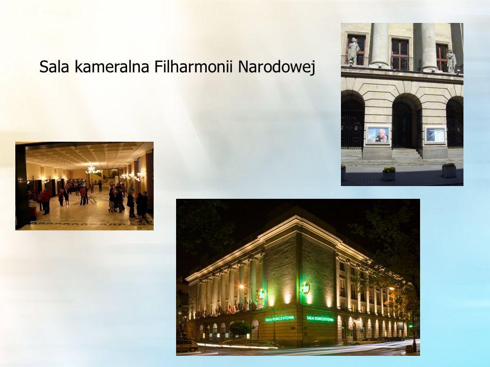 Sala kameralna Filharmonii Narodowej