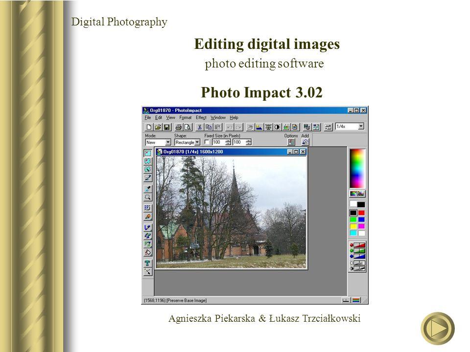Agnieszka Piekarska & Łukasz Trzciałkowski Digital Photography Editing digital images photo editing software Photo Impact 3.02