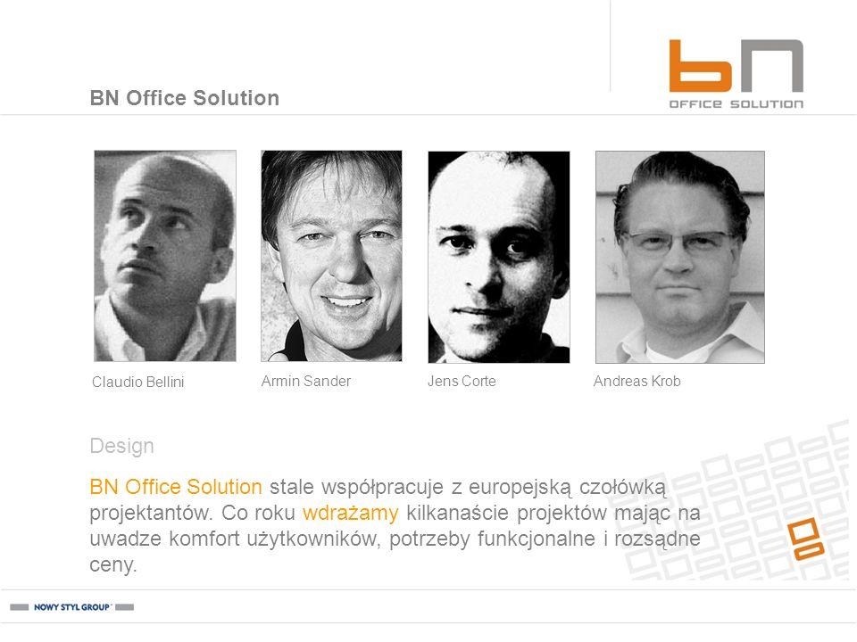 BN Office Solution BN Office Solution stale współpracuje z europejską czołówką projektantów. Co roku wdrażamy kilkanaście projektów mając na uwadze ko