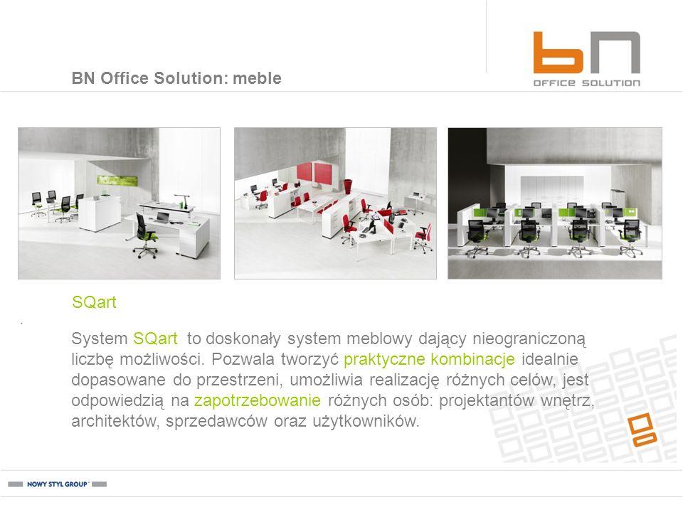 . SQart BN Office Solution: meble System SQart to doskonały system meblowy dający nieograniczoną liczbę możliwości. Pozwala tworzyć praktyczne kombina