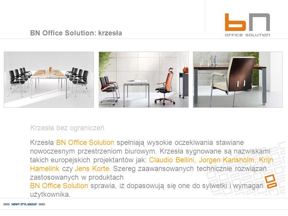 Krzesła BN Office Solution spełniają wysokie oczekiwania stawiane nowoczesnym przestrzeniom biurowym. Krzesła sygnowane są nazwiskami takich europejsk