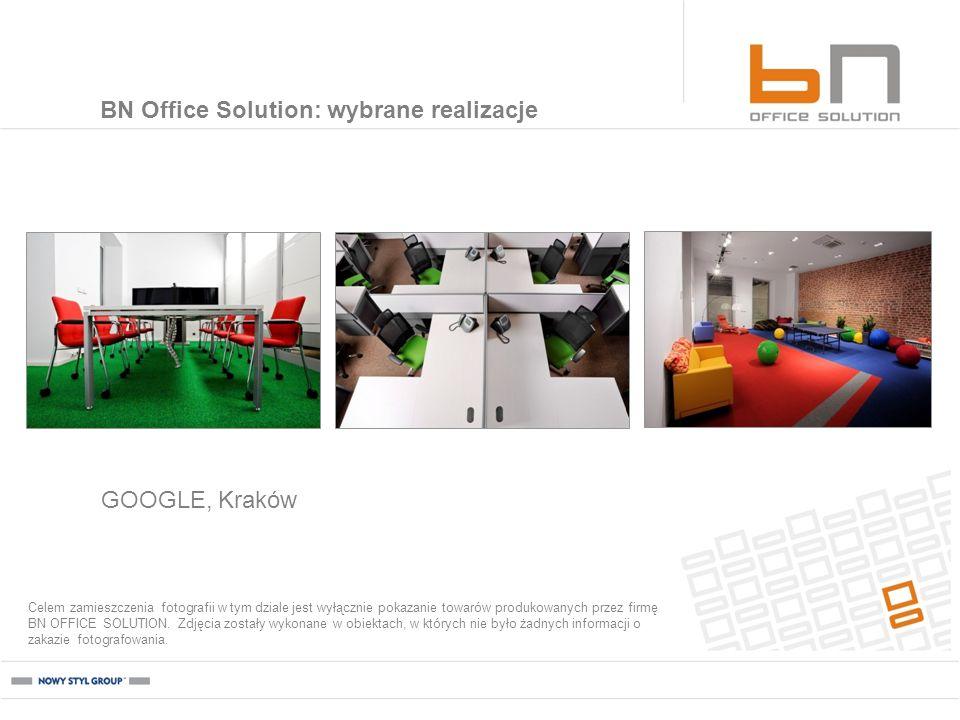 GOOGLE, Kraków BN Office Solution: wybrane realizacje Celem zamieszczenia fotografii w tym dziale jest wyłącznie pokazanie towarów produkowanych przez