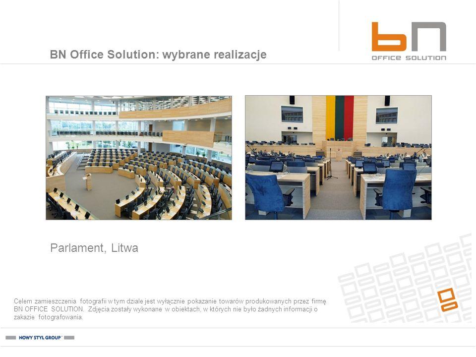 Parlament, Litwa BN Office Solution: wybrane realizacje Celem zamieszczenia fotografii w tym dziale jest wyłącznie pokazanie towarów produkowanych prz