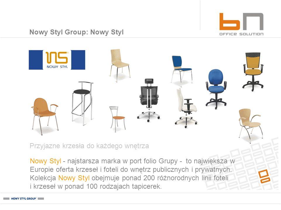 Nowy Styl - najstarsza marka w port folio Grupy - to największa w Europie oferta krzeseł i foteli do wnętrz publicznych i prywatnych. Kolekcja Nowy St