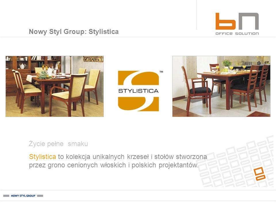Stylistica to kolekcja unikalnych krzeseł i stołów stworzona przez grono cenionych włoskich i polskich projektantów. Życie pełne smaku Nowy Styl Group