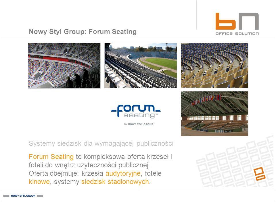 Forum Seating to kompleksowa oferta krzeseł i foteli do wnętrz użyteczności publicznej. Oferta obejmuje: krzesła audytoryjne, fotele kinowe, systemy s