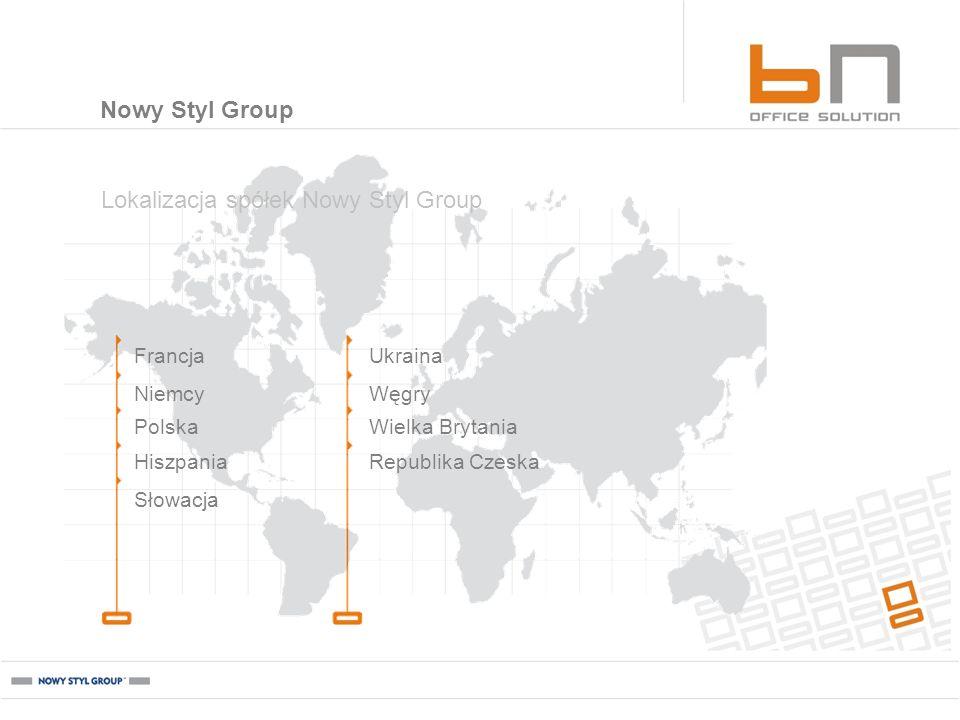Francja Niemcy Hiszpania Polska Słowacja Ukraina Węgry Republika Czeska Wielka Brytania Lokalizacja spółek Nowy Styl Group Nowy Styl Group