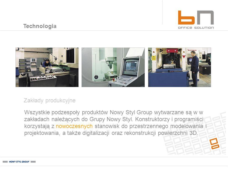 Wszystkie podzespoły produktów Nowy Styl Group wytwarzane są w w zakładach należących do Grupy Nowy Styl. Konstruktorzy i programiści korzystają z now