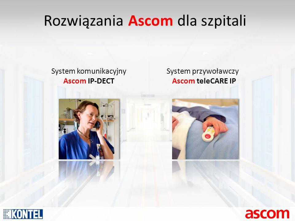 Rozwiązania Ascom dla szpitali System komunikacyjny Ascom IP-DECT System przywoławczy Ascom teleCARE IP