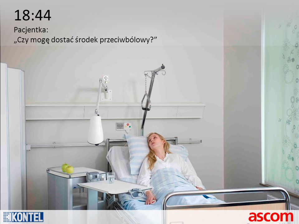 18:44 Pacjentka: Czy mogę dostać środek przeciwbólowy?