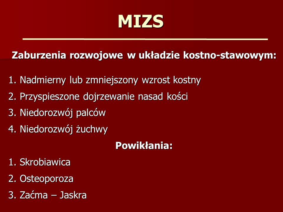 MIZS - Leczenie - Leki modyfikujące objawy choroby NLPZ NLPZ Glikokortykosteroidy Glikokortykosteroidy - Leki modyfikujące przebieg choroby (DMARD-s) Arechina, Plaquenil Arechina, Plaquenil Sulfosalazopiryna Sulfosalazopiryna Metotrexat Metotrexat
