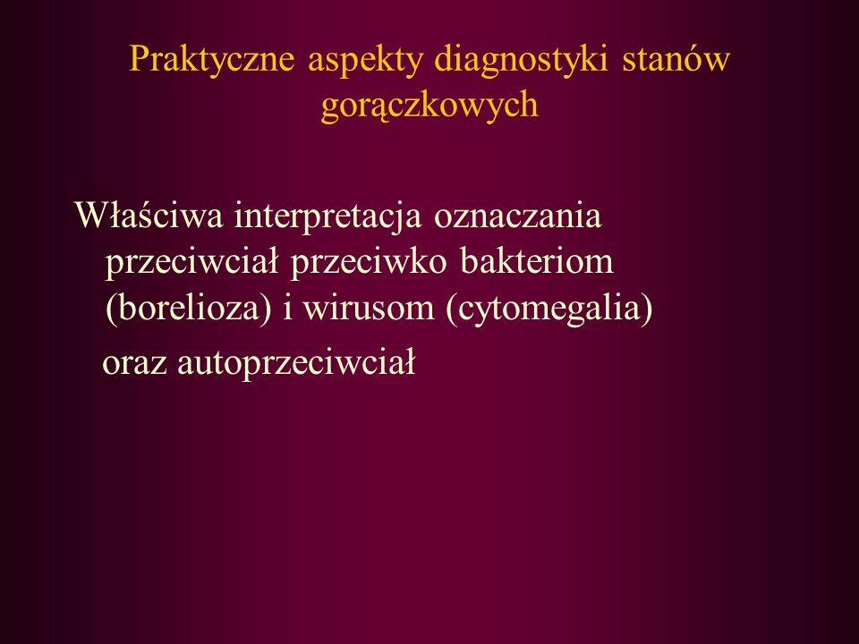 Praktyczne aspekty diagnostyki stanów gorączkowych Właściwa interpretacja oznaczania przeciwciał przeciwko bakteriom (borelioza) i wirusom (cytomegali