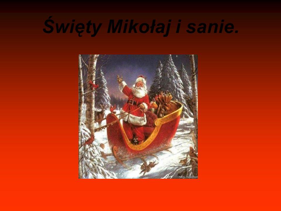 Święty Mikołaj i sanie.