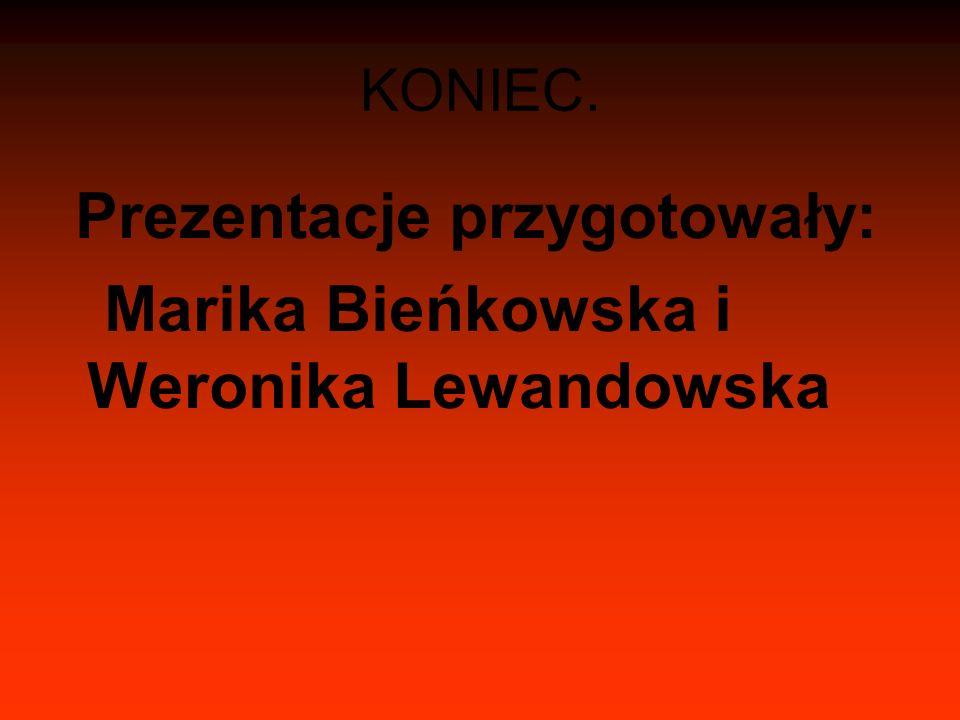 KONIEC. Prezentacje przygotowały: Marika Bieńkowska i Weronika Lewandowska