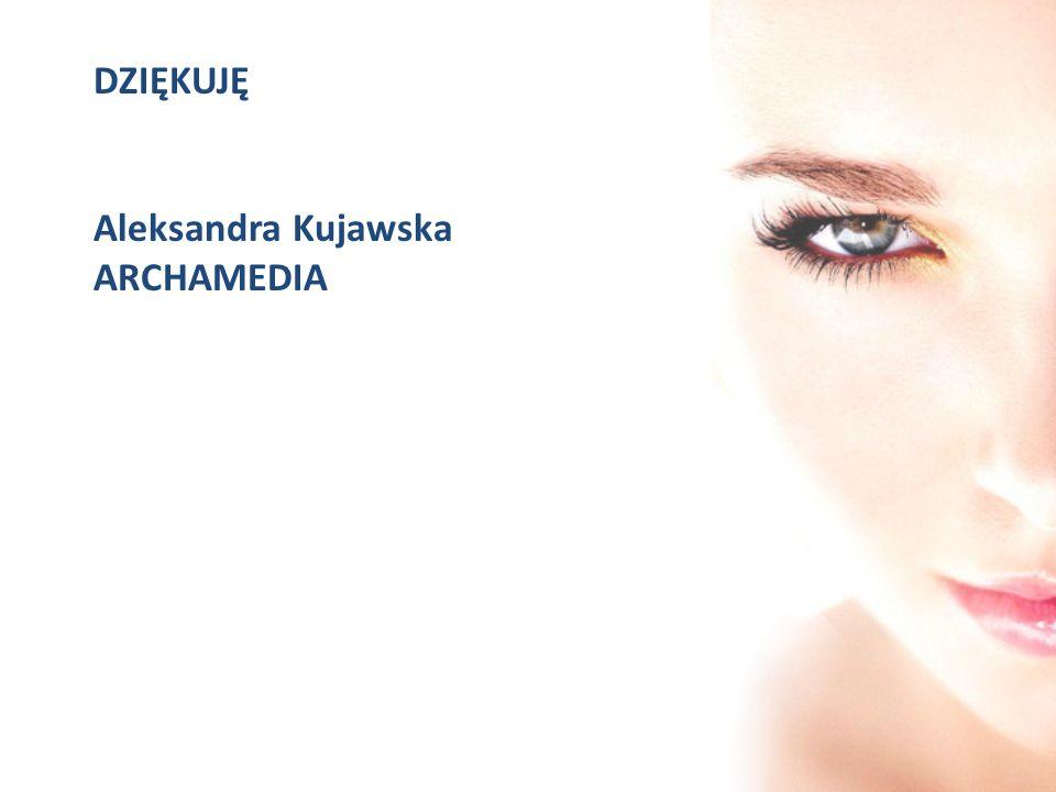DZIĘKUJĘ Aleksandra Kujawska ARCHAMEDIA