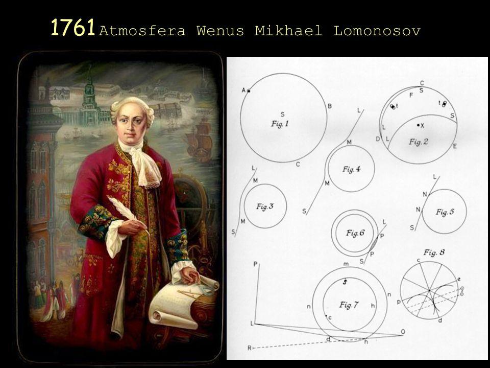 1761 Atmosfera Wenus Mikhael Lomonosov