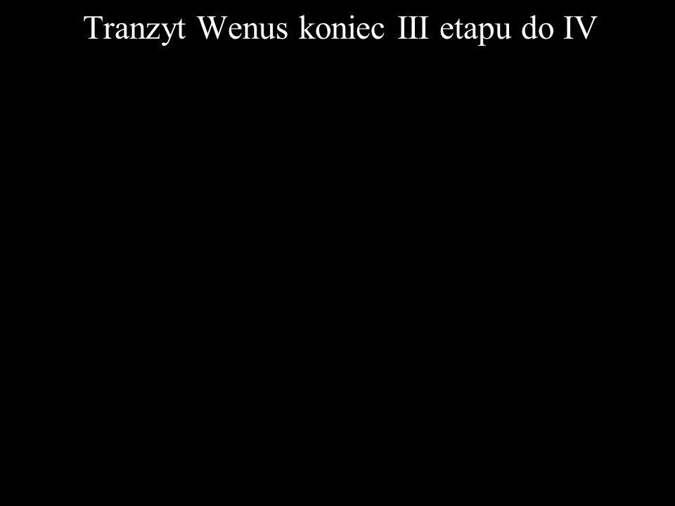 Tranzyt Wenus koniec III etapu do IV