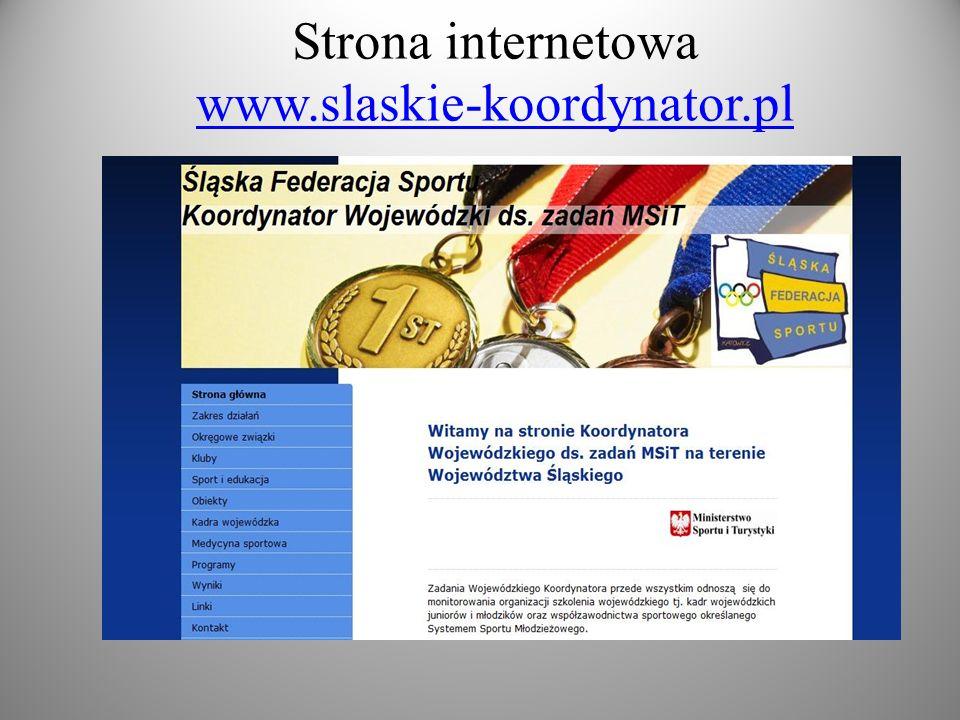 Strona internetowa www.slaskie-koordynator.pl www.slaskie-koordynator.pl
