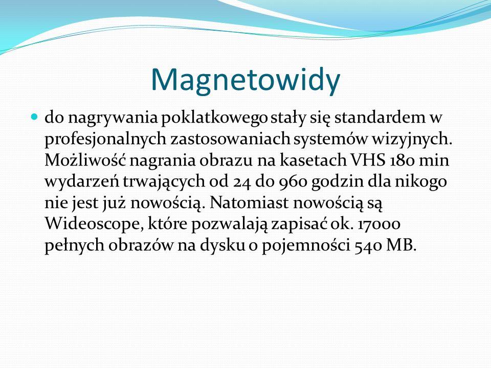Magnetowidy do nagrywania poklatkowego stały się standardem w profesjonalnych zastosowaniach systemów wizyjnych.