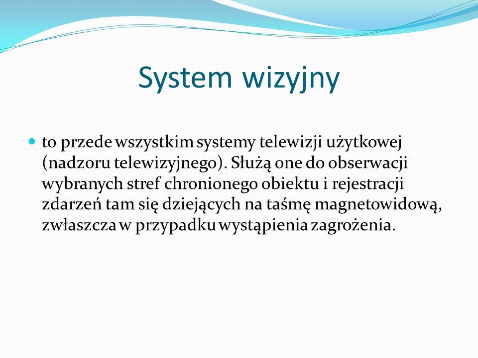 System wizyjny to przede wszystkim systemy telewizji użytkowej (nadzoru telewizyjnego).