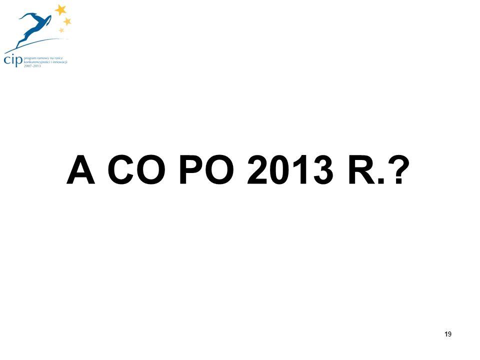 A CO PO 2013 R.? 19