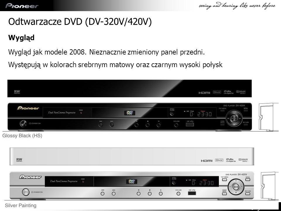 Confidential Odtwarzacze DVD (DV-320V/420V) Wygląd jak modele 2008. Nieznacznie zmieniony panel przedni. Występują w kolorach srebrnym matowy oraz cza