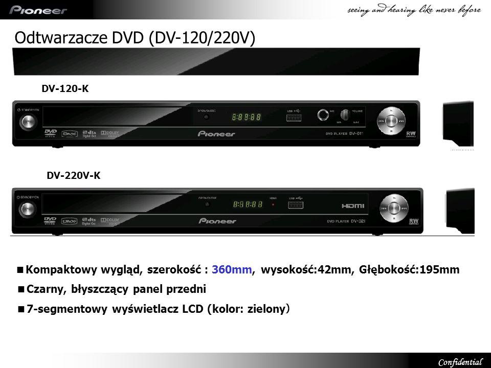 Confidential Kompaktowy wygląd, szerokość 360mm, wysokość:42mm, Głębokość:195mm Czarny, błyszczący panel przedni 7-segmentowy wyświetlacz LCD (kolor: