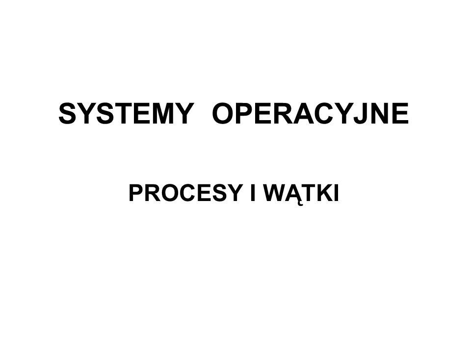 2 PROCESY I WĄTKI Proces to program, który jest wykonywany.