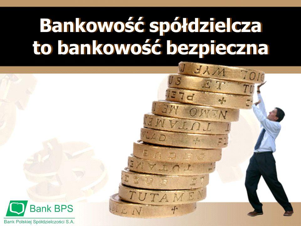 Bankowość spółdzielcza to bankowość bezpieczna Bankowość spółdzielcza to bankowość bezpieczna