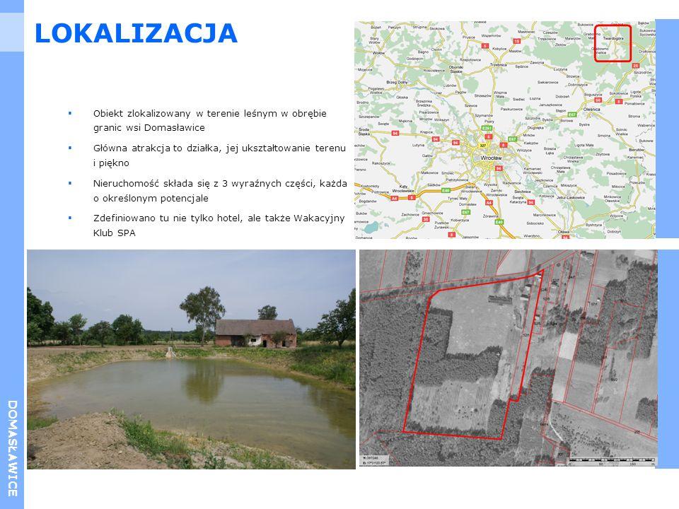 DOMASŁAWICE Obiekt zlokalizowany w terenie leśnym w obrębie granic wsi Domasławice Główna atrakcja to działka, jej ukształtowanie terenu i piękno Nier