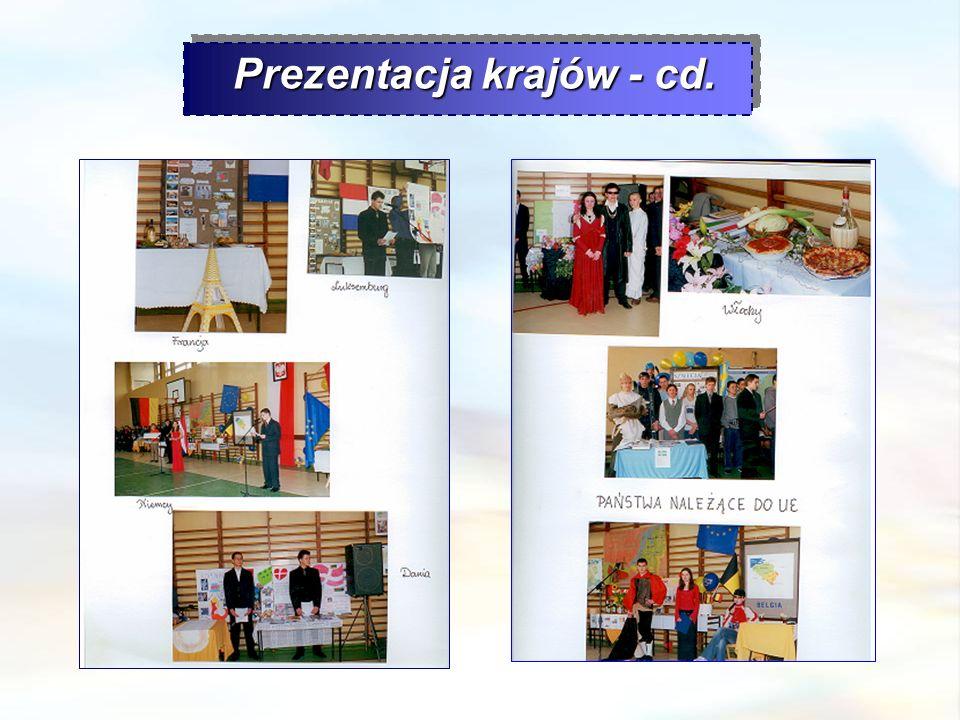 Prezentacja krajów - cd. Prezentacja krajów - cd.