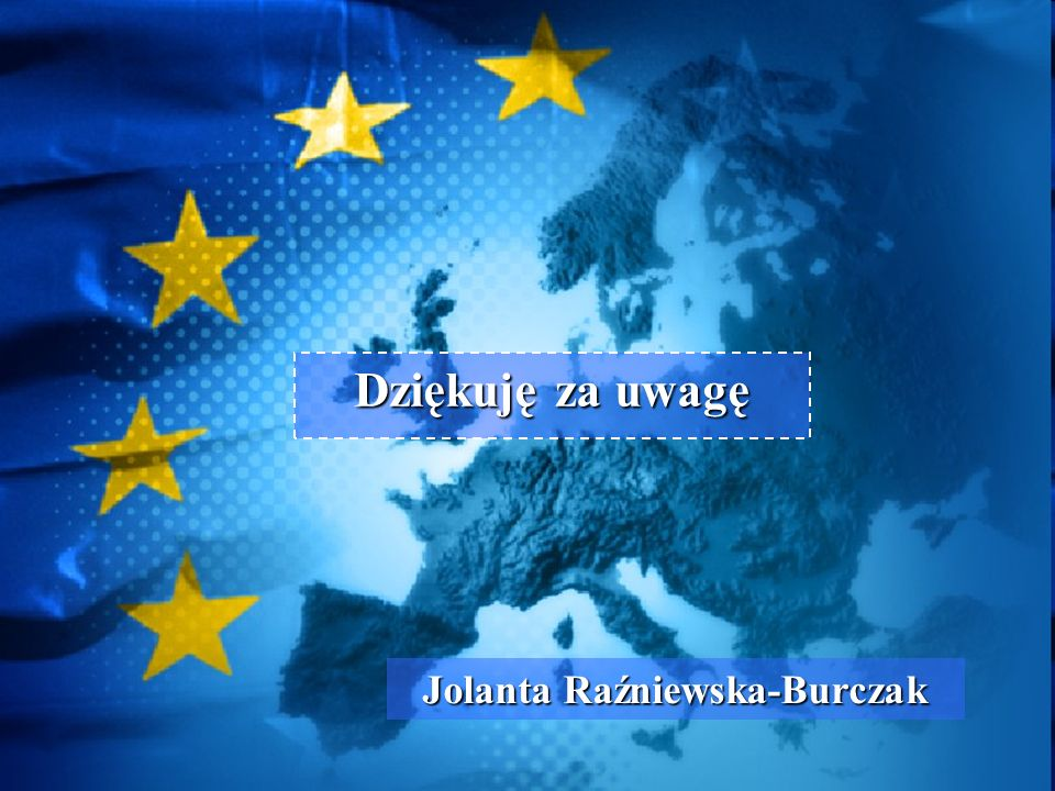 Dziękuję za uwagę Jolanta Raźniewska-Burczak