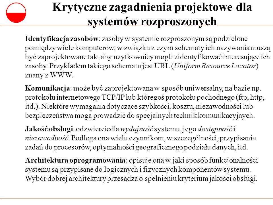 Zastosowanie różnych architektur K/S Dwuwarstwowa architektura K/S z cienkim klientem Dwuwarstwowa architektura K/S z grubym klientem Trzywarstwowa lub wielowarstwowa archiktektura K/S Systemy spadkowe (legacy), gdzie oddzielenie przetwarzania i zarządzania danymi jest niepraktyczne.