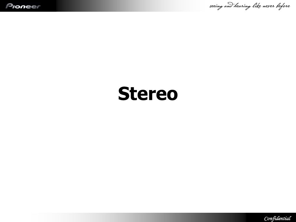 Confidential Stereo